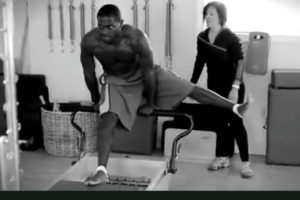 Antonio Brown at PHI Pilates Studio